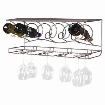 Metal wire decorative wine holder